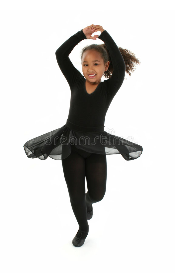 Het mooie Dansen van het Meisje royalty-vrije stock afbeelding