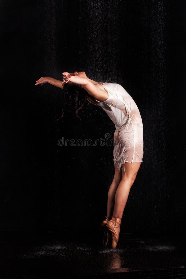 Het mooie dansen van het Meisje Ballerina stock afbeeldingen