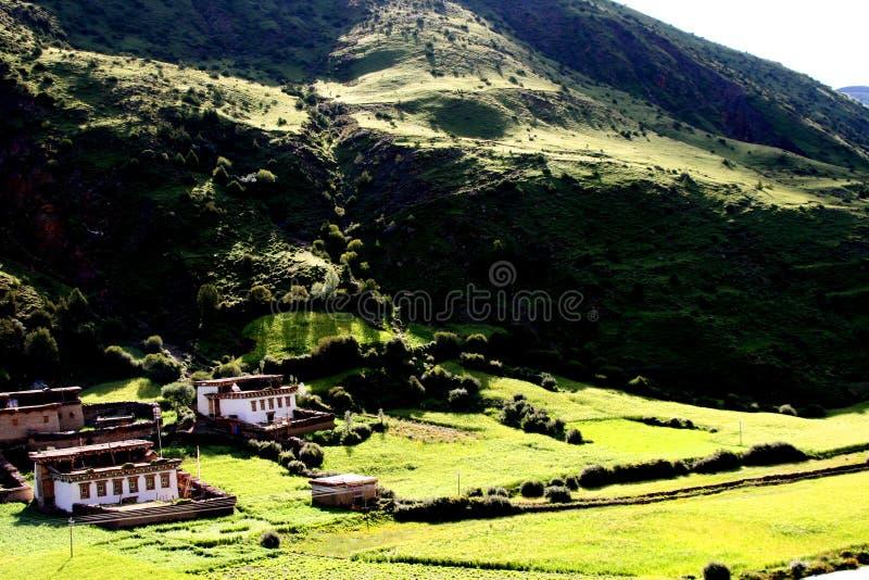 Het mooie dorp van Tibet van China royalty-vrije stock foto's