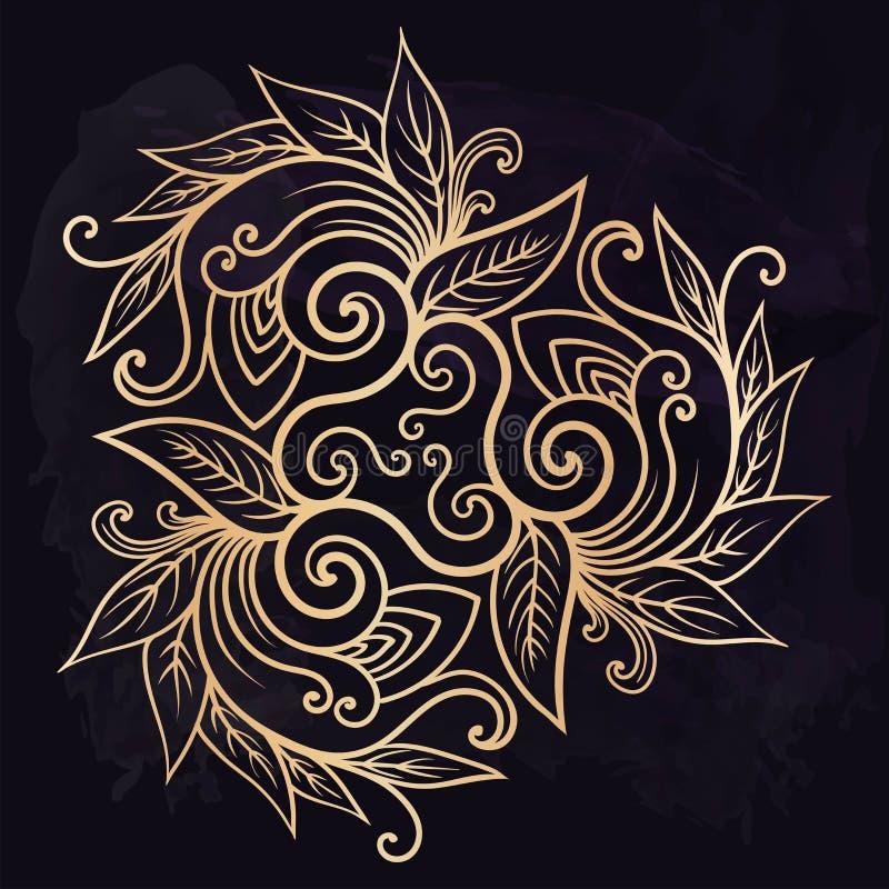 Het mooie element van het mehndiontwerp Tatoegering van de henna de tijdelijke flits Traditionele etnische stijl stammenornamente stock illustratie