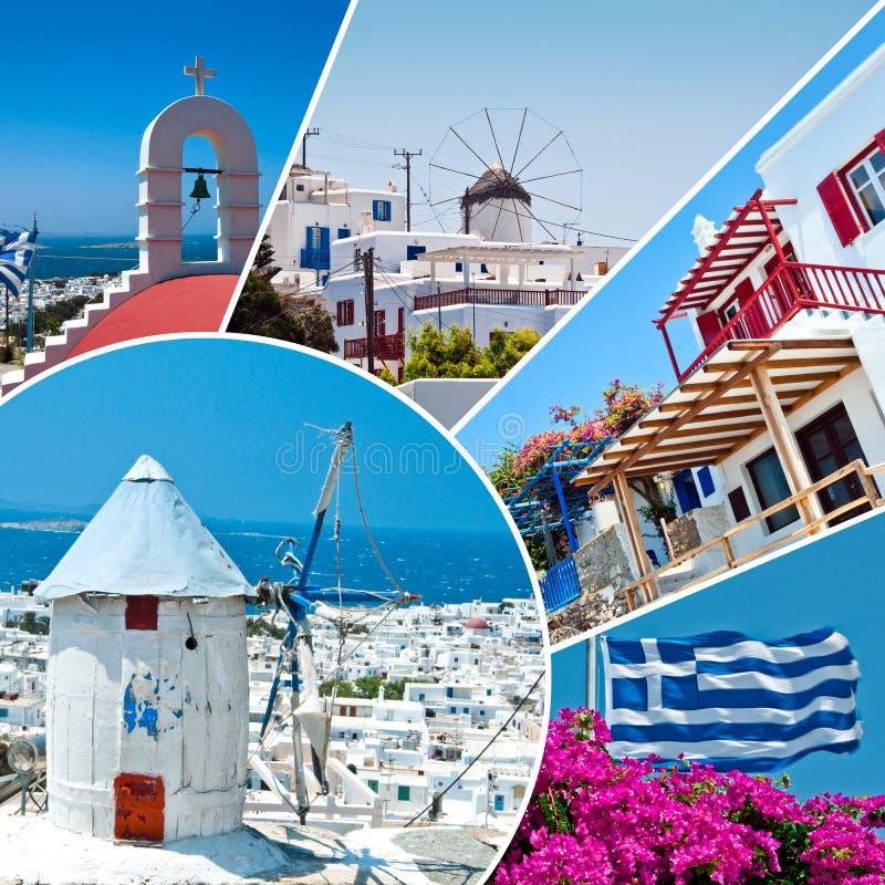 Het mooie Griekse eiland, Mykonos stock afbeelding