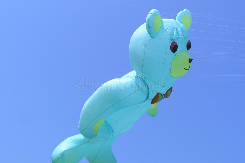 Het mooie grote blauw draagt vlieger in een vliegersfestival stock fotografie