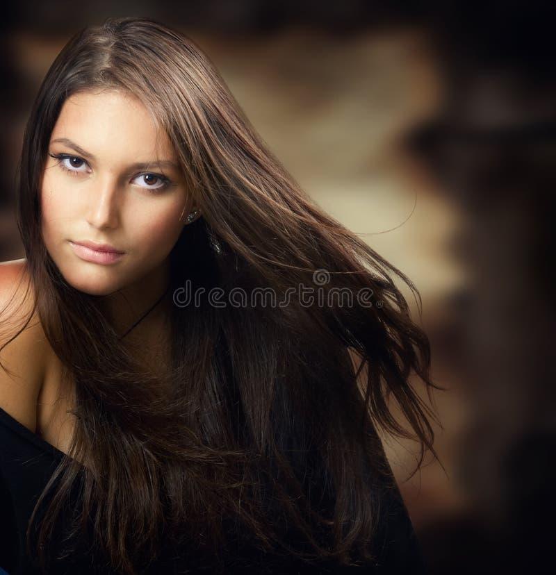 Het mooie Jonge portret van de Vrouw stock afbeelding
