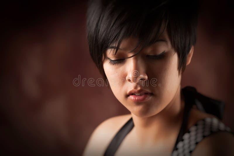Het mooie Jonge Volwassen Portret van de Vrouw Multiethnic stock foto