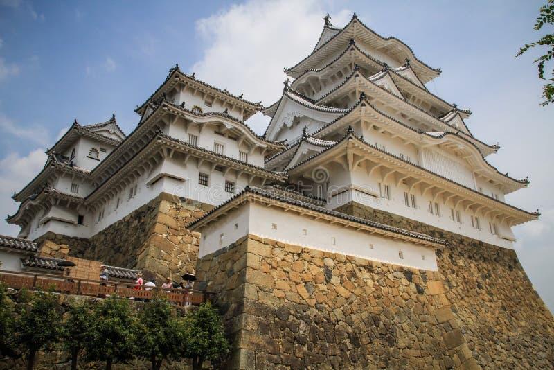 Het mooie kasteel van Himeji, Himeji, Hyogo-Prefectuur, Japan stock afbeelding