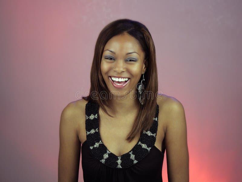 Het mooie Lachen van het Meisje van de Tiener stock afbeelding