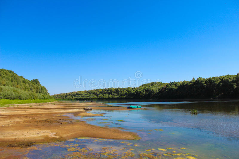 Het mooie landschap is niet de rivier royalty-vrije stock afbeelding