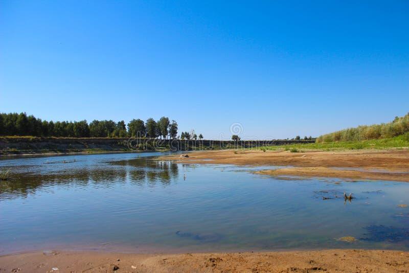 Het mooie landschap is niet de rivier stock foto