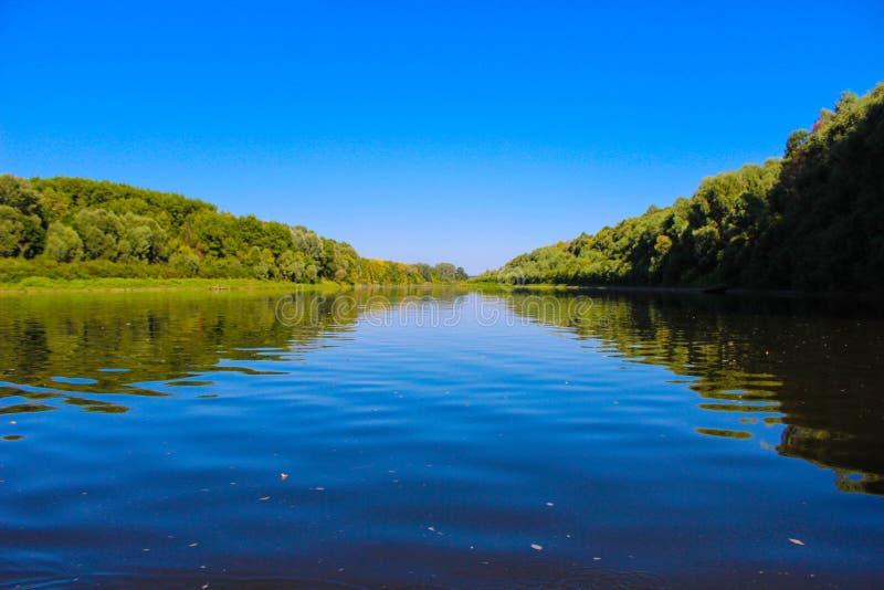 Het mooie landschap is niet de rivier stock foto's