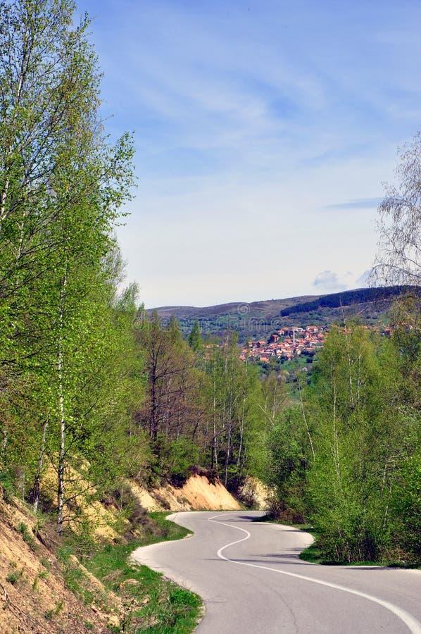 Het mooie Landschap van de de Lenteberg royalty-vrije stock foto's