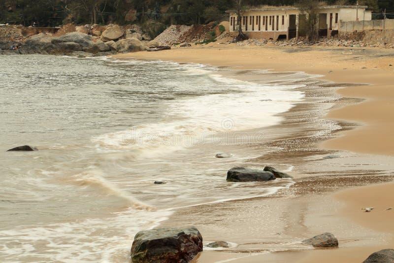 Het mooie landschap van het strand stock foto's