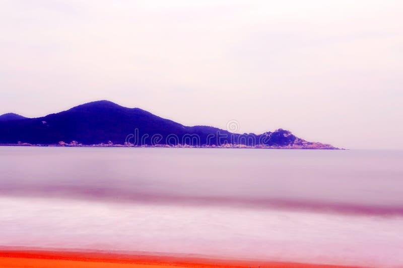 Het mooie landschap van het strand in het eiland van shantounanao, Guangdong, China royalty-vrije stock foto