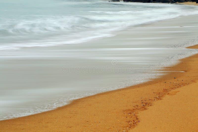 Het mooie landschap van het strand in het eiland van shantounanao, Guangdong, China royalty-vrije stock afbeelding