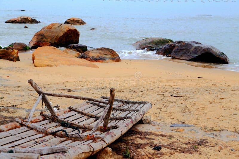 Het mooie landschap van het strand in het eiland van shantounanao, Guangdong, China stock fotografie