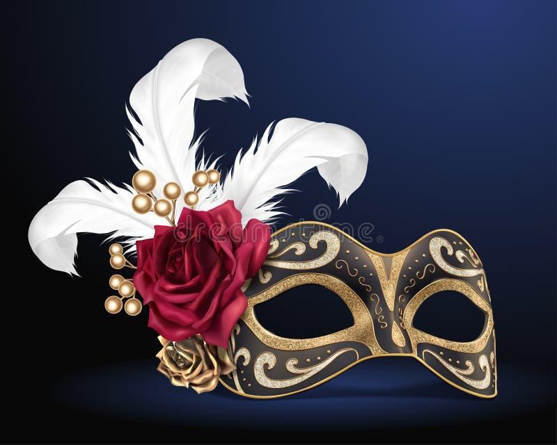 Het mooie masker van Carnaval royalty-vrije illustratie