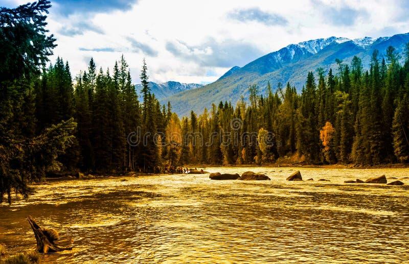 Het mooie Meer van Meerkanas, Xinjiang royalty-vrije stock foto