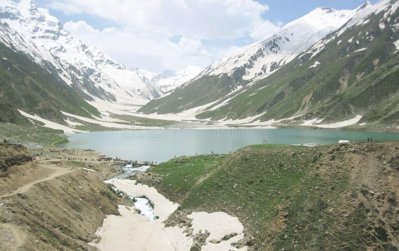 Het mooie meer van Pakistan safulmaluk in kaghan Naran royalty-vrije stock afbeelding