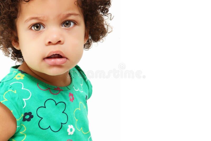 Het mooie Meisje van de Baby stock foto