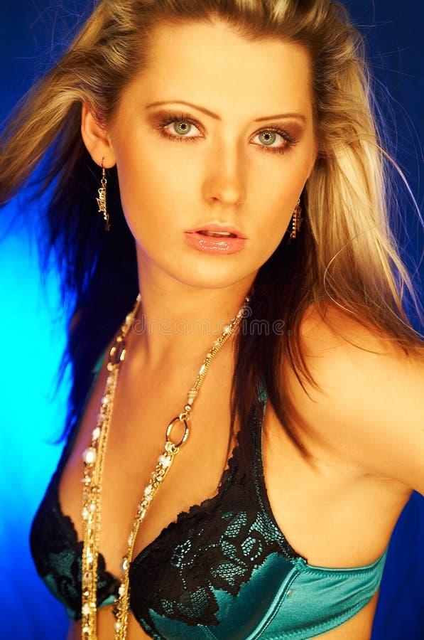 Het mooie Meisje van de Blonde stock foto