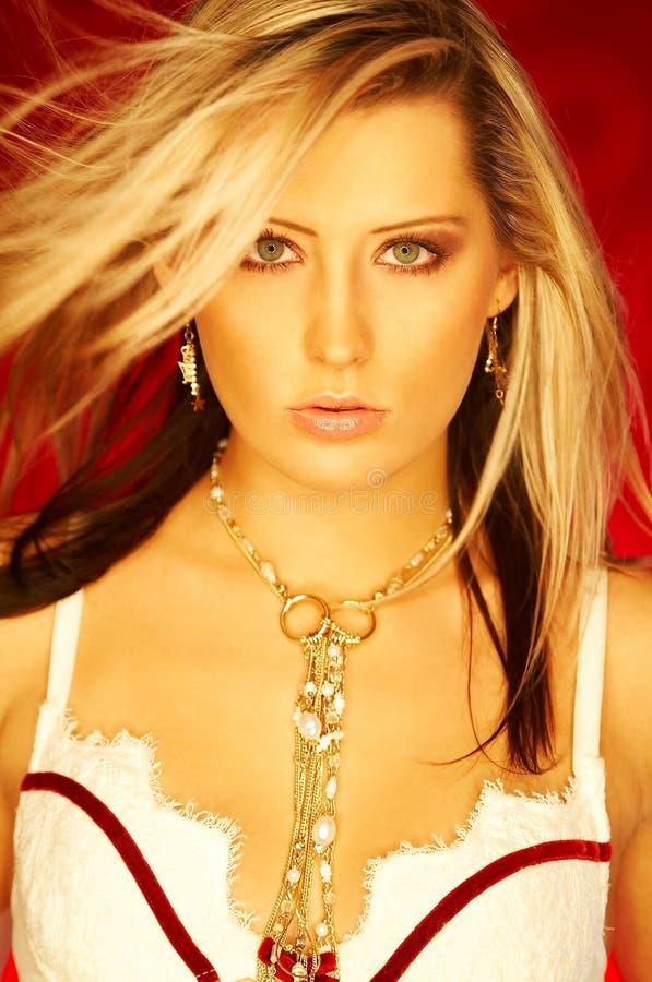 Het mooie Meisje van de Blonde stock fotografie