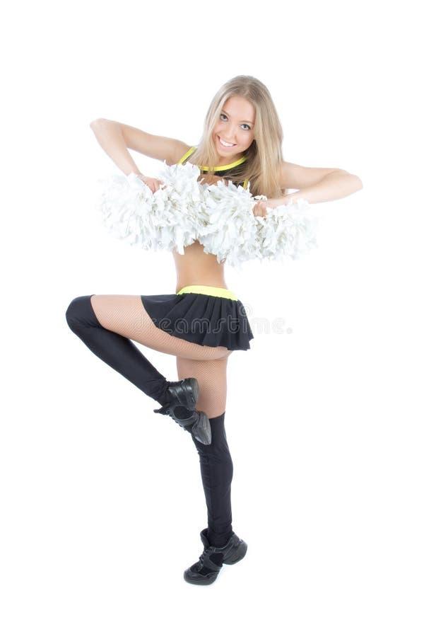 Het mooie meisje van de cheerleaderdanser royalty-vrije stock afbeeldingen