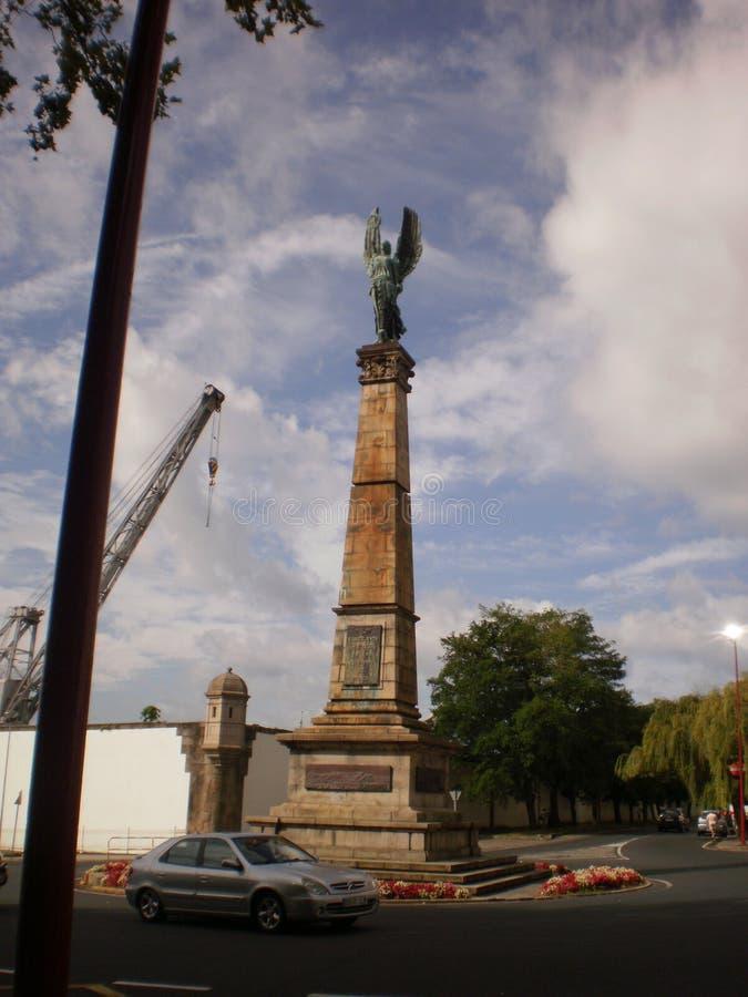 Het mooie Monument aan overlijdt in de Campagnes in Afrika in Ferrol 7 augustus, 2012 Ferrol La Coruna Galicië, Spanje Vakantie royalty-vrije stock afbeelding