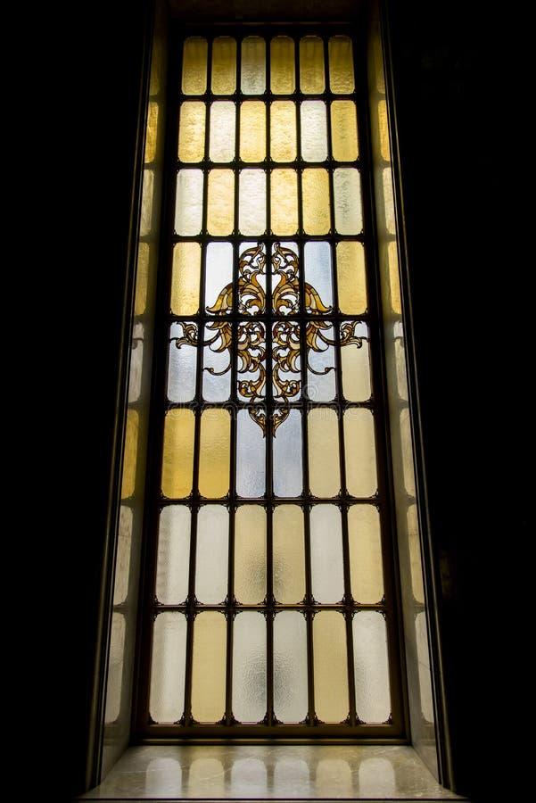 Het Mooie Mozaïekvenster in Museum royalty-vrije stock afbeelding