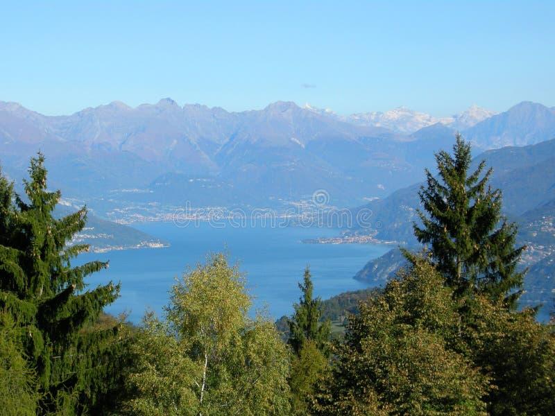 Het mooie panorama van Como Italië van het Meer stock afbeeldingen