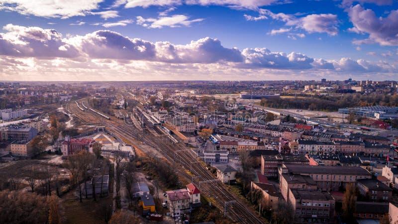 Het mooie panorama van Lublin stock foto