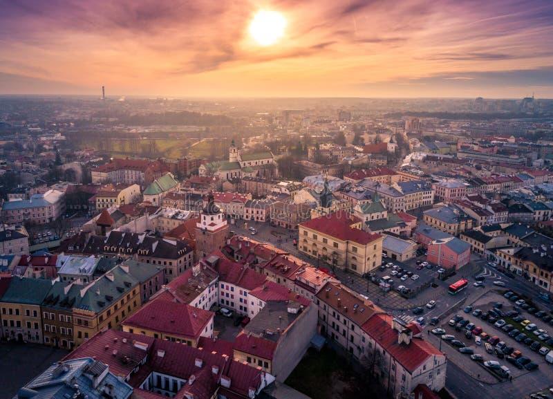Het mooie panorama van Lublin royalty-vrije stock foto