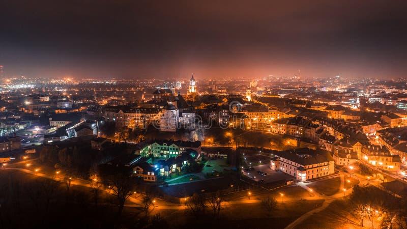 Het mooie panorama van Lublin stock afbeeldingen