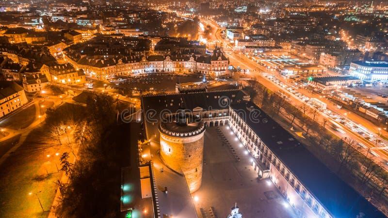 Het mooie panorama van Lublin royalty-vrije stock fotografie