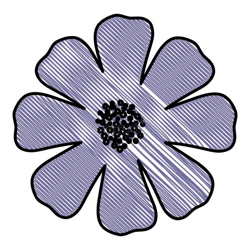 Het mooie pictogram van de bloemtuin vector illustratie