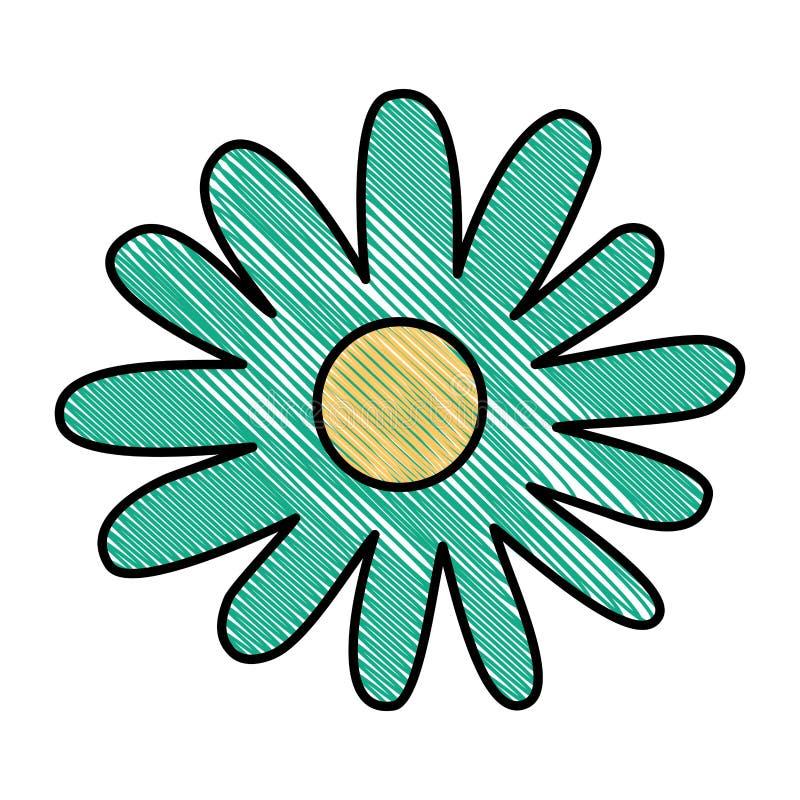Het mooie pictogram van de bloemtuin royalty-vrije illustratie