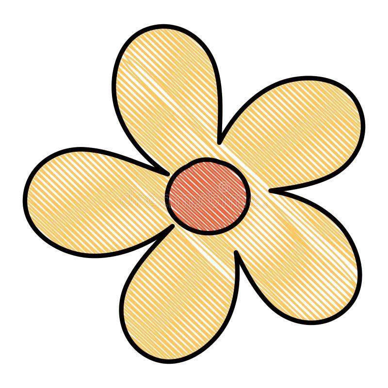 Het mooie pictogram van de bloemtuin stock illustratie