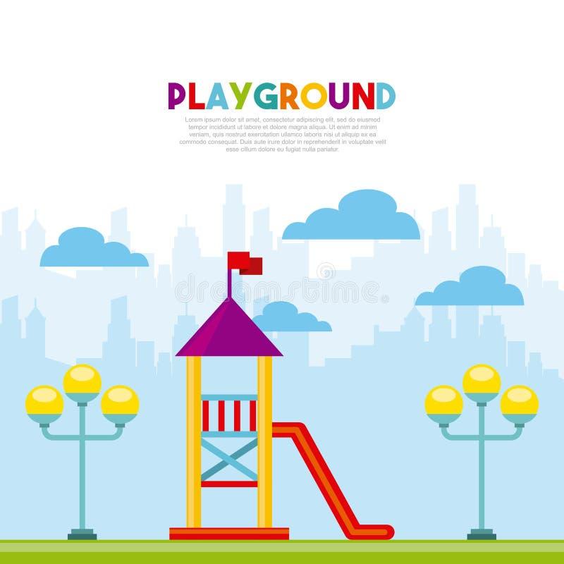 Het mooie pictogram van de kinderenspeelplaats royalty-vrije illustratie