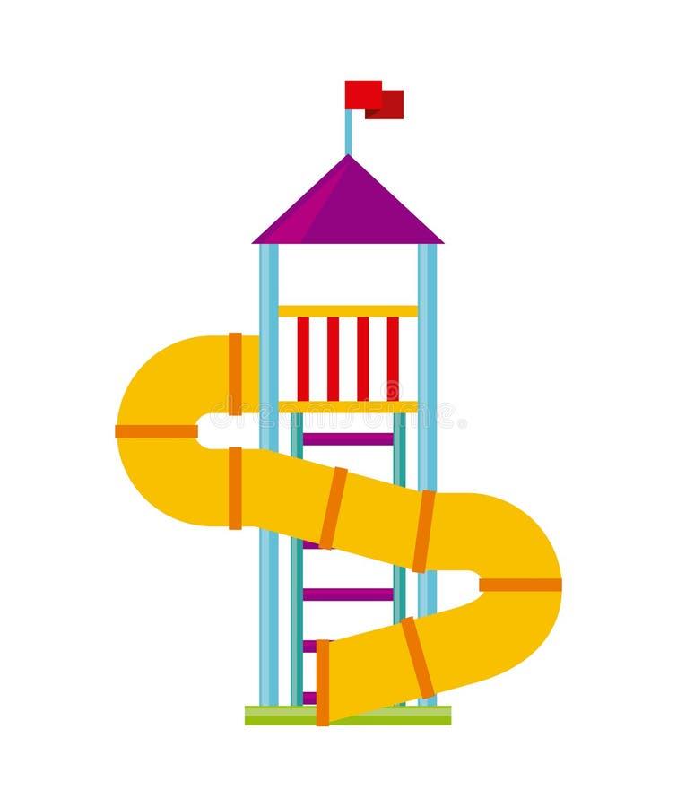 Het mooie pictogram van de kinderenspeelplaats vector illustratie