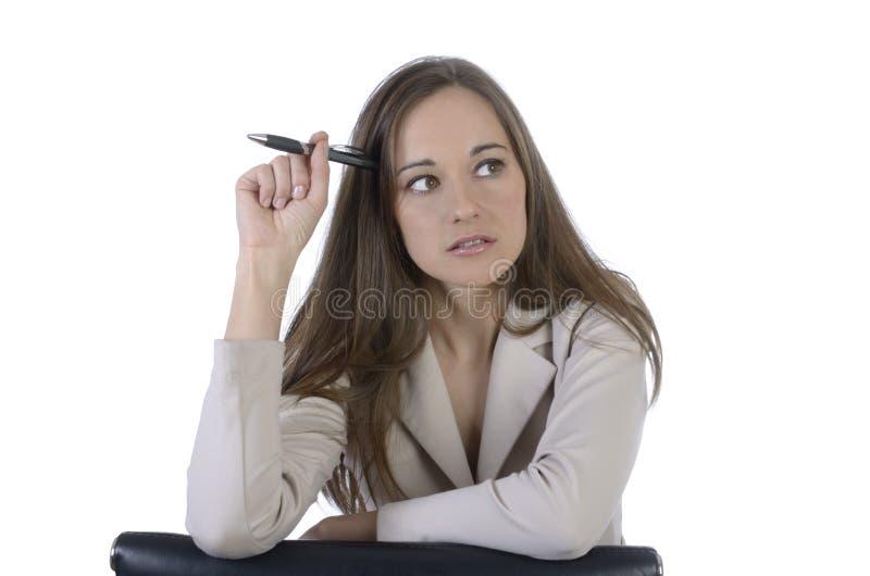 Het mooie Portret van de Bedrijfsvrouwenclose-up royalty-vrije stock afbeeldingen