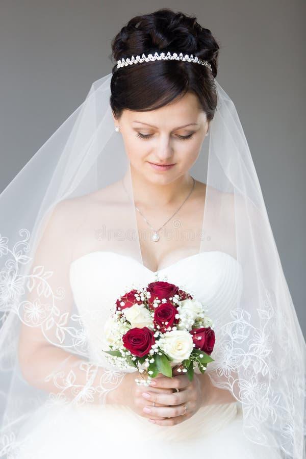 Het mooie Portret van de Bruid royalty-vrije stock fotografie