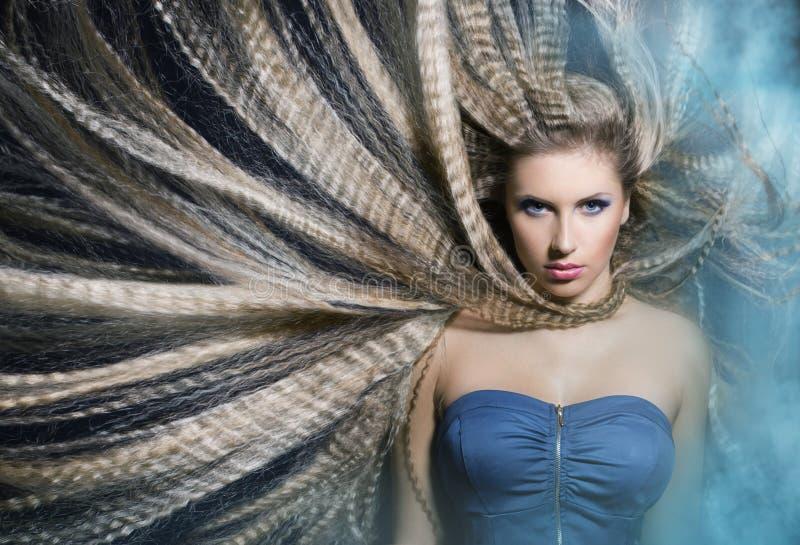 Het mooie portret van het Meisje van de Manier. Make-up royalty-vrije stock afbeelding