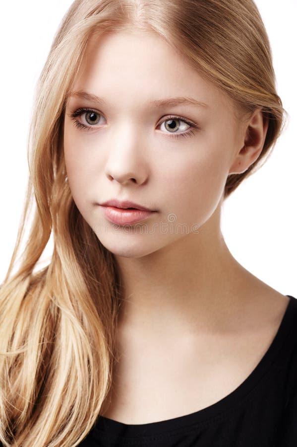 Het mooie portret van het tienermeisje stock afbeeldingen