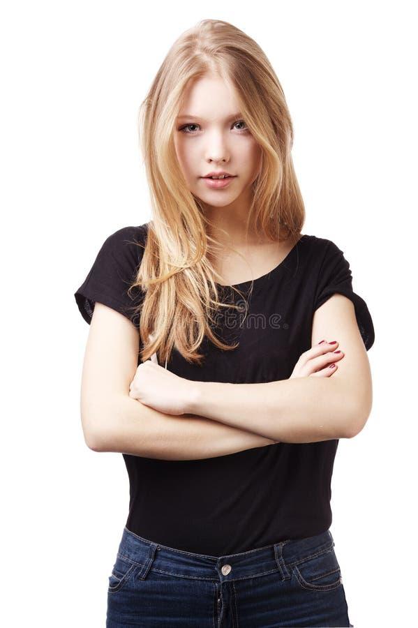 Het mooie portret van het tienermeisje royalty-vrije stock fotografie