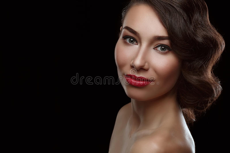Het mooie portret van Vrouwen stock afbeeldingen