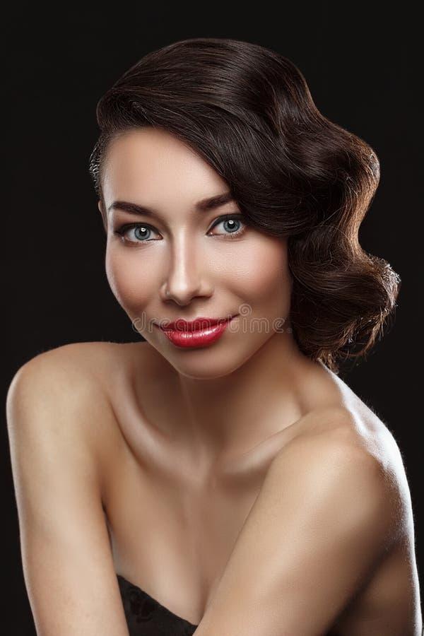 Het mooie portret van Vrouwen royalty-vrije stock afbeelding