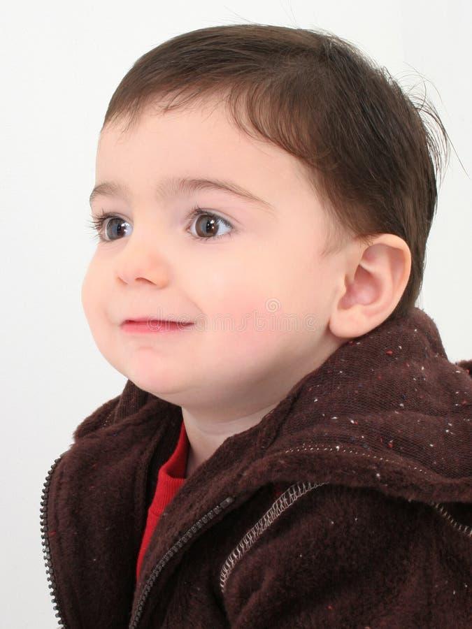 Het mooie Profiel van de Jongen van de Peuter stock fotografie