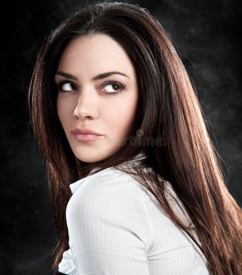 Het mooie sensuele vrouw stellen royalty-vrije stock foto