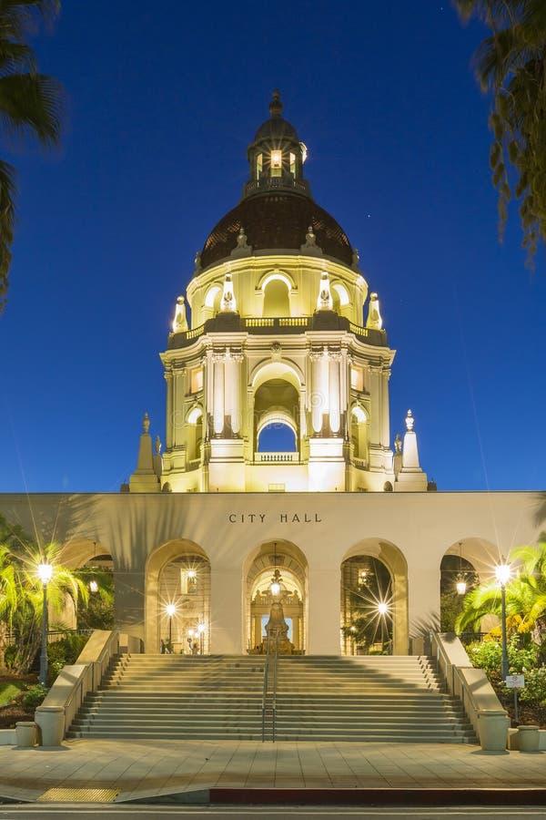 Het mooie Stadhuis van Pasadena dichtbij Los Angeles, Californië royalty-vrije stock foto's