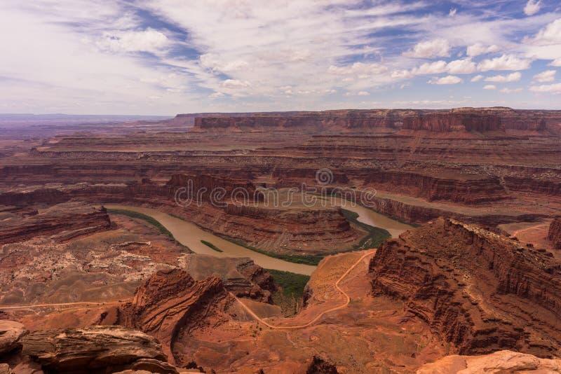 Het mooie woestijnlandschap van Moab, Utah Dood de staatspark van het paardPunt royalty-vrije stock fotografie