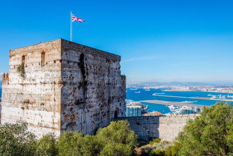 Het Moorse kasteel, Gibraltar stock afbeelding