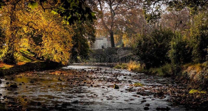 Het _Morning van Claphambeck bridge view royalty-vrije stock fotografie